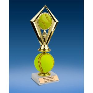Softball Diamond Soft Spinner Riser Trophy