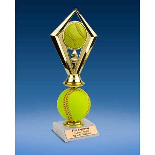 Softball Diamond Soft Spinner Riser Trophy