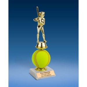 Softball Sport Figure Soft Spinner Riser Trophy