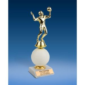 Volleyball Sport Figure Soft Spinner Riser Trophy