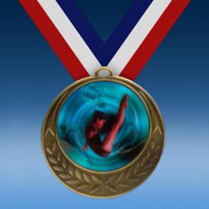 Diving Female Laurel Wreath Medal-0