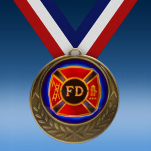 Fire Department Laurel Wreath Medal-0