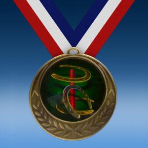 Horse Shoes Laurel Wreath Medal-0