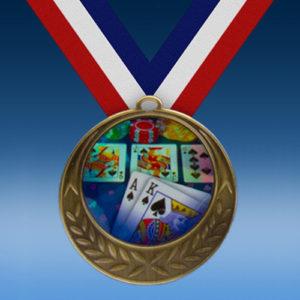 Poker Laurel Wreath Medal-0