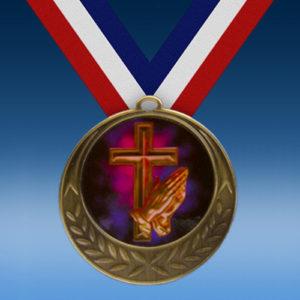 Religious Laurel Wreath Medal-0