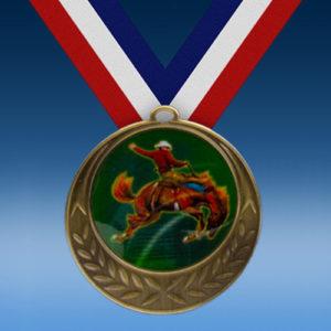 Rodeo Horse Laurel Wreath Medal-0