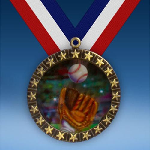Baseball 2 20 Star Medal-0