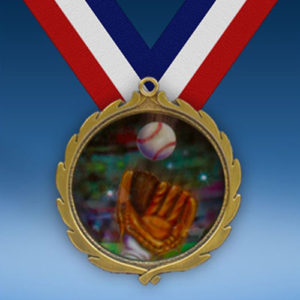 Baseball 2 Wreath Medal-0