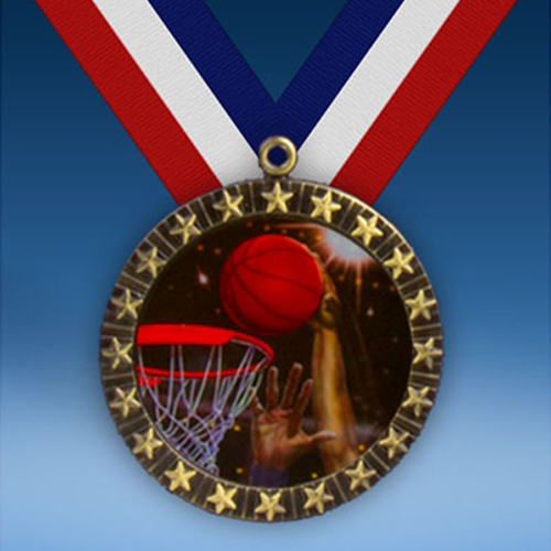 Basketball 2 20 Star Medal-0