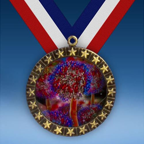 Cheerleading 2 20 Star Medal-0