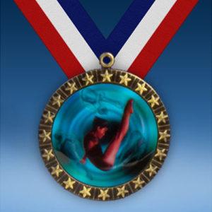 Diving Female 20 Star Medal-0