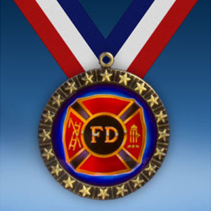 Fire Department 20 Star Medal-0