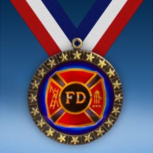 Fire Department 20 Star Medal-0