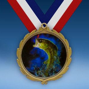 Fishing Wreath Medal-0