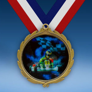 Go Karts Wreath Medal-0