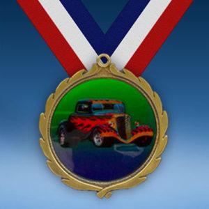 Hot Rod Wreath Medal-0