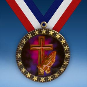 Religious 20 Star Medal-0
