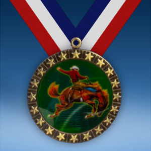 Rodeo Horse 20 Star Medal-0