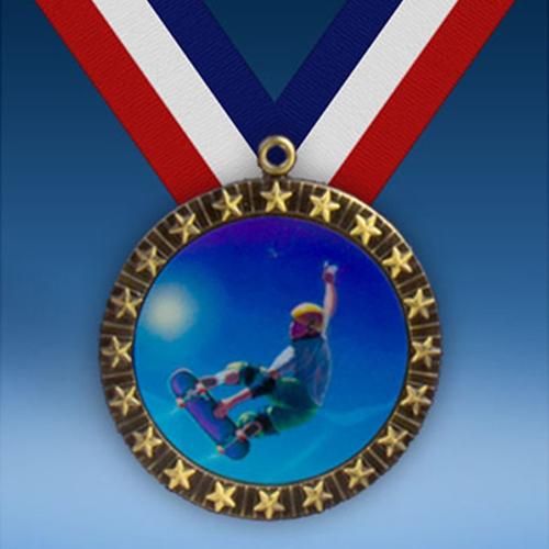 Skateboarding 20 Star Medal-0