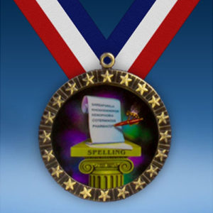 Spelling 20 Star Medal-0