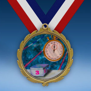Swimming Wreath Medal-0
