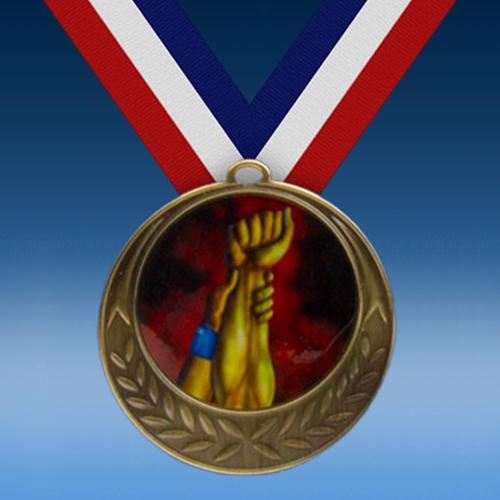Wrestling Laurel Wreath Medal-0