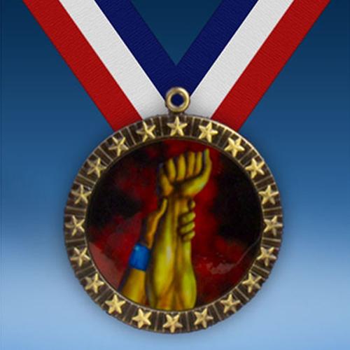 Wrestling 20 Star Medal-0