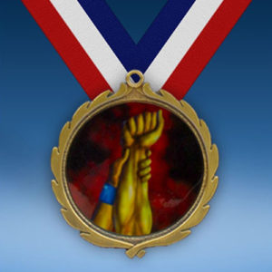 Wrestling Wreath Medal-0