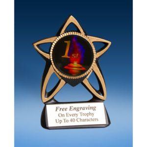 1st Place Gold Star Mylar Holder