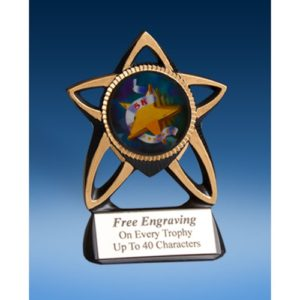 5K Gold Star Mylar Holder