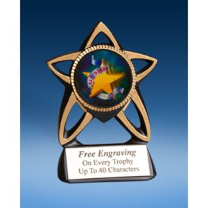 All Star Gold Star Mylar Holder