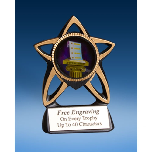 Attendance Gold Star Mylar Holder