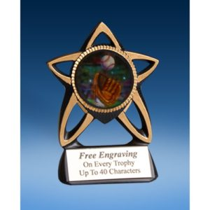 Baseball 2 Gold Star Mylar Holder
