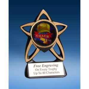 Coach Gold Star Mylar Holder