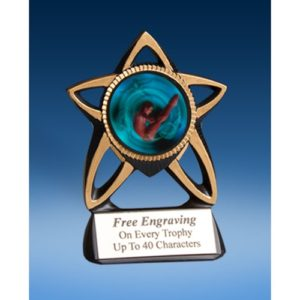 Diving Male Gold Star Mylar Holder
