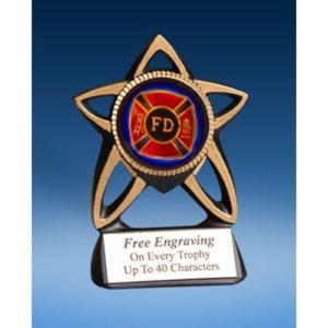 Fire Department Gold Star Mylar Holder