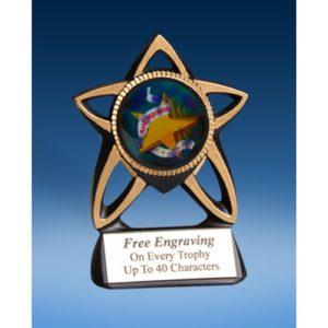 Most Improved Gold Star Mylar Holder