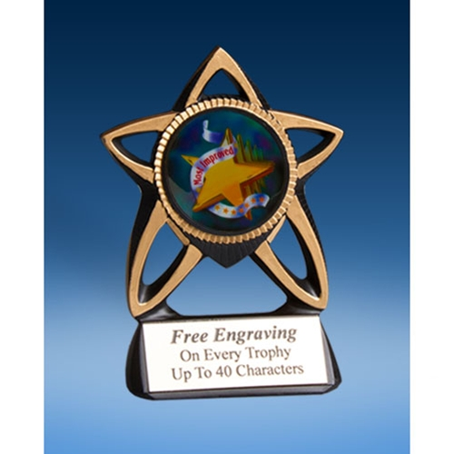 Most Improved Gold Star Mylar Holder