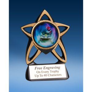 Snowmobile Gold Star Mylar Holder