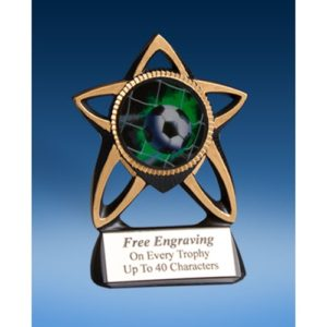 Soccer Gold Star Mylar Holder
