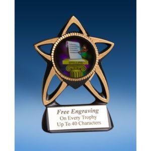 Spelling Gold Star Mylar Holder