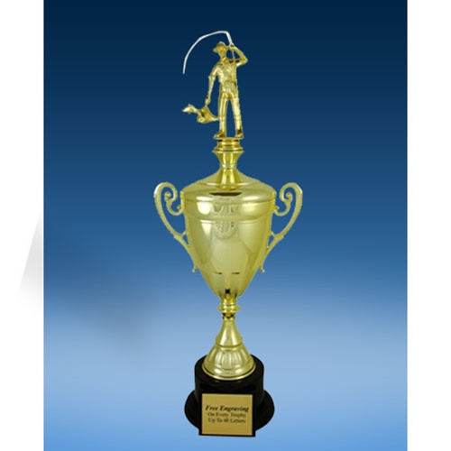 Fishing Sport Figure Gold Cup