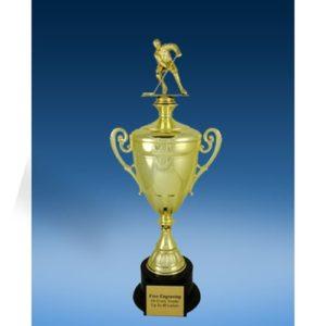 Lacrosse Sport Figure Gold Cup