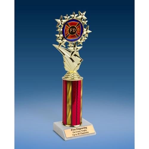 "Fire Department Sports Starz Trophy 10"""