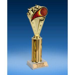 "Basketball Sport Flame Trophy 10"""
