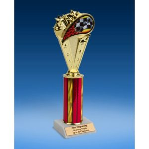 Racing Sport Flame Trophy 10""