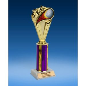 Volleyball Sport Flame Trophy 10""