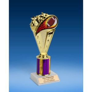 Football Sport Flame Trophy 8""