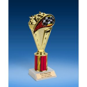 Racing Sport Flame Trophy 8""