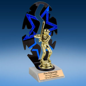 Baseball Sport Figure Backdrop Trophy